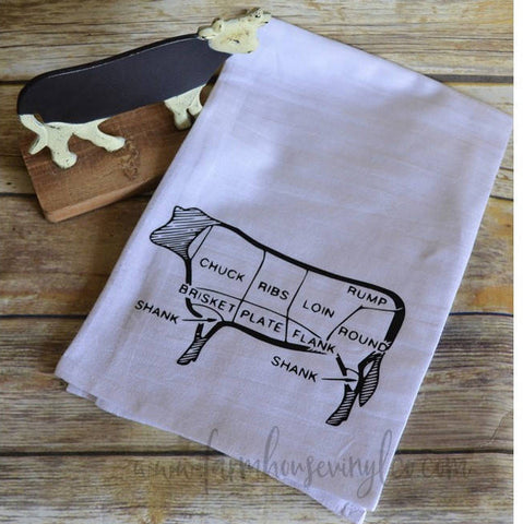 Farmhouse Cow Tea Towel