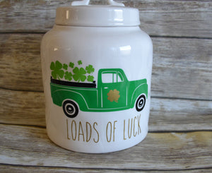 St. Patrick's Day Rae Dunn Inspired Vintage Truck Vinyl Decal