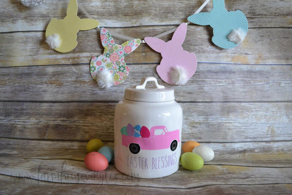 Easter Rae Dunn Inspired Vintage Truck Vinyl Decal