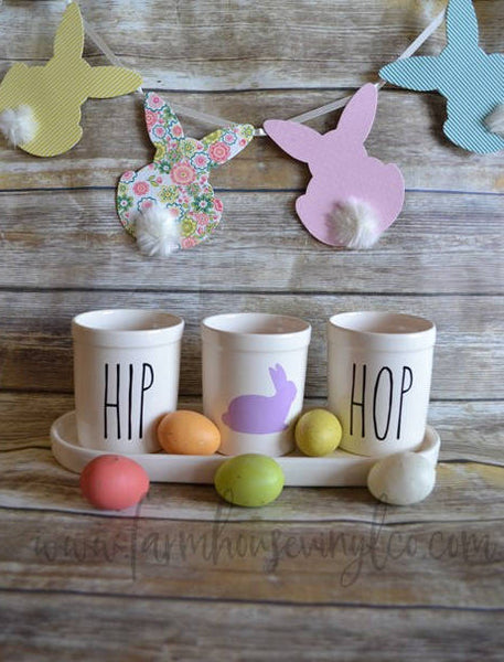 Rae Dunn Inspired Easter Planters Vinyl Decal