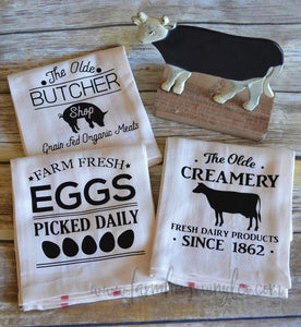 Farmhouse Animals Tea Towels