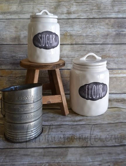 Chalkboard Style Farmhouse Vinyl Pantry Labels