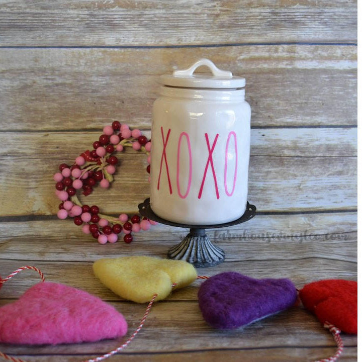 Valentine's Day Rae Dunn Inspired XOXO Vinyl Decal