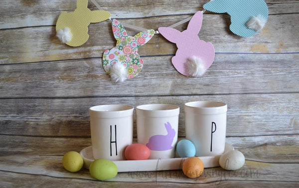 Rae Dunn Inspired HOP Easter Planters Vinyl Decal