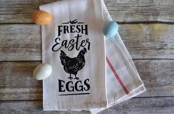 Farmhouse Fresh Easter Eggs Tea Towel