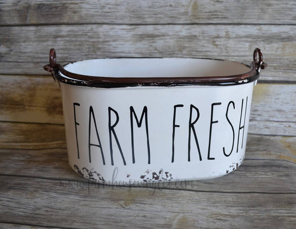 Rae Dunn Inspired Farm Fresh Bucket Decal