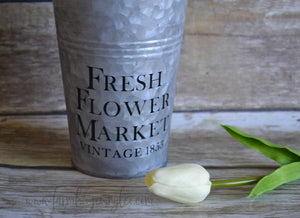 Fresh Flower Market Decal