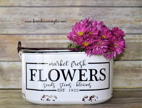 Market Fresh Flower Decal