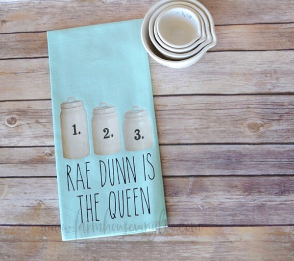 1 2 3 Rae Dunn Is The Queen Canister Tea Towel!