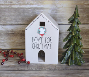 Rae Dunn Inspired Christmas Decals for Target Dollar Spot Houses
