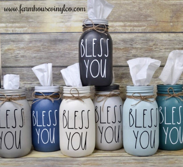 Rae Dunn Inspired Mason Jar Tissue Holder