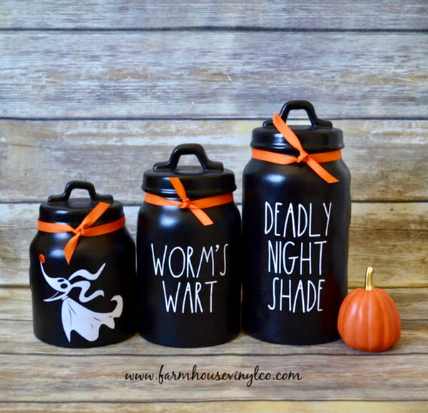 Rae Dunn Inspired Nightmare Before Christmas Decals