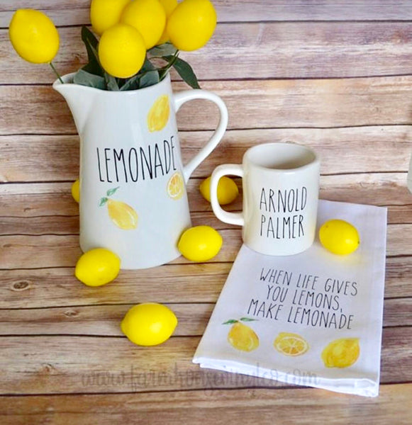Rae Dunn Inspired Lemonade Decor Set