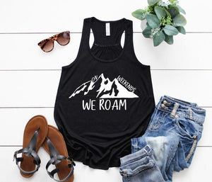 Women's On Weekends We Roam Flowy Racerback Tank
