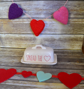 Rae Dunn Inspired Valentine's Day Spread the Love Vinyl Decal