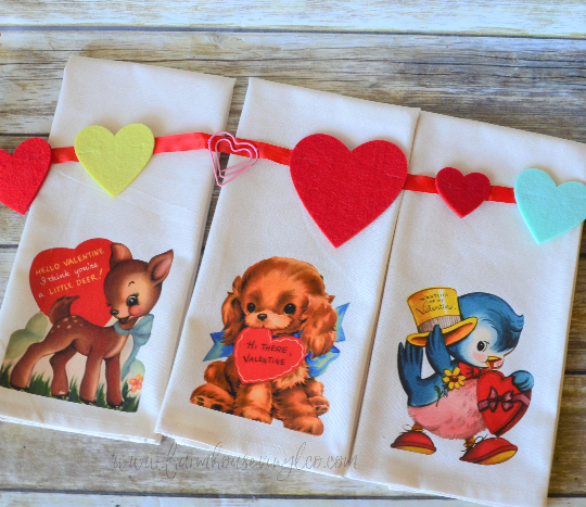 Vintage Inspired Valentine's Day Towels