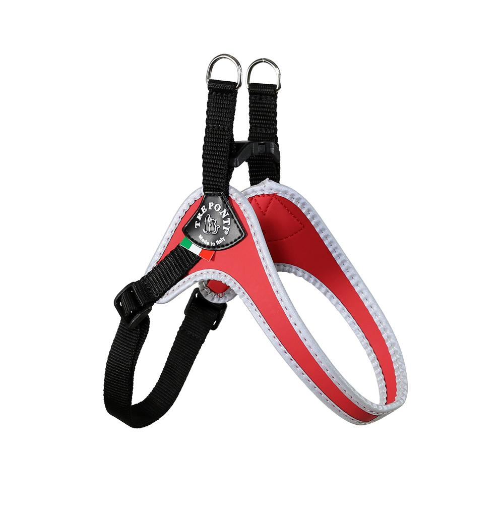 Easy Fit Classic Red Harness with Adjustable Girth