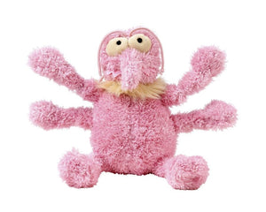 Scratchette The Pink Flea Plush Dog Toy