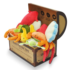 Under The Sea Set Of 5 x 3 Toys In POS Treasure Chest