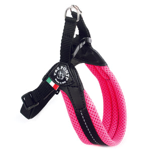 Easy Fit Breathable Mesh Harness with Adjustable Girth Fluo Pink