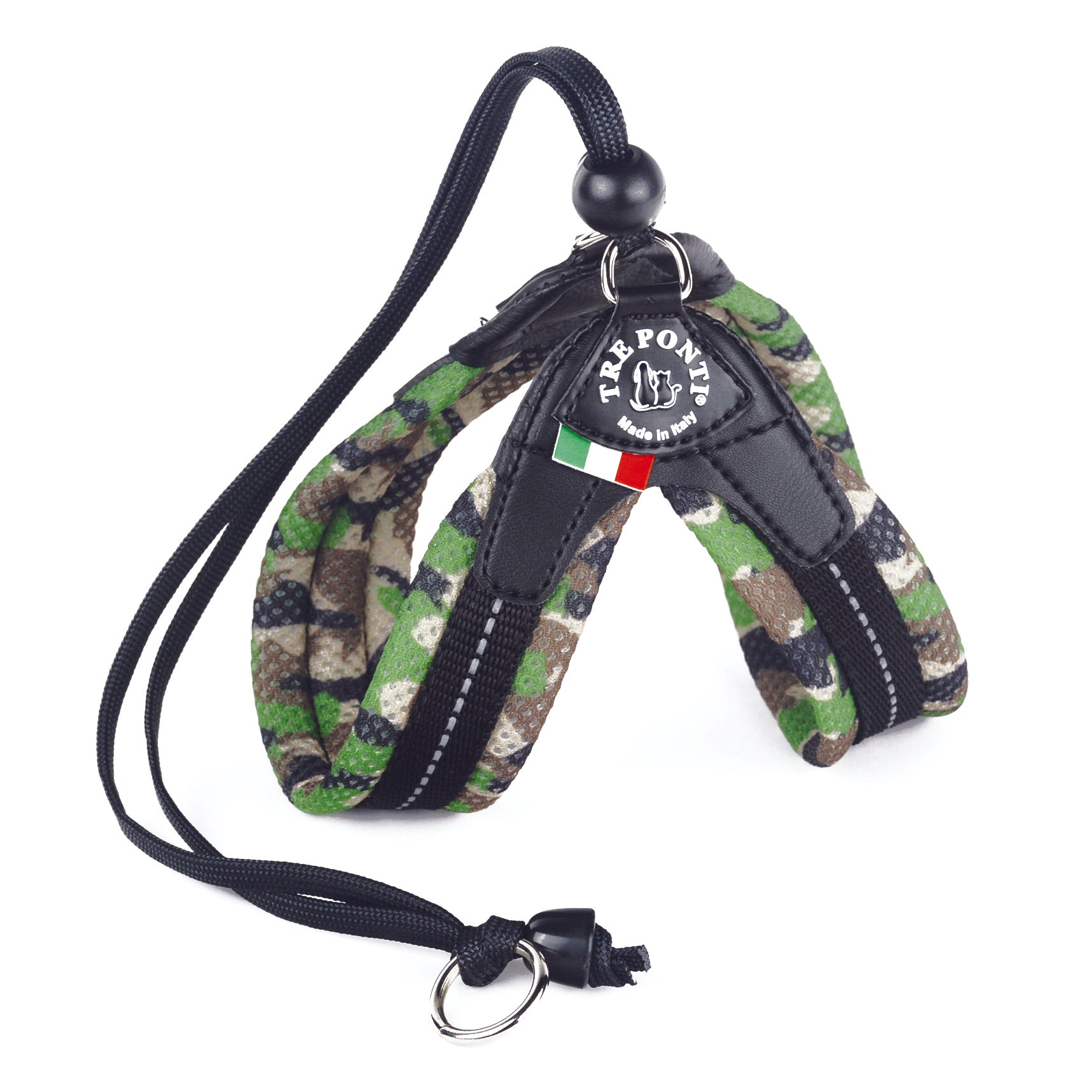 Easy Fit Breathable Mesh Harness with Adjustable Strap  Closure Green Camouflage