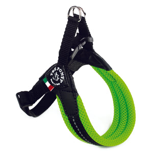 Easy Fit Breathable Mesh Harness with Adjustable Girth Fluo Green