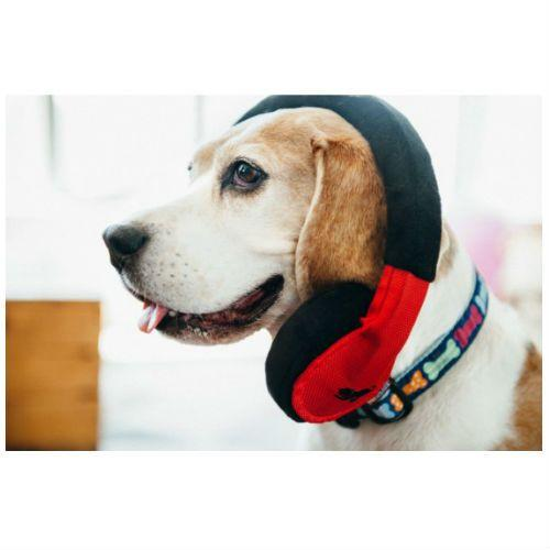 Headphones Plush Dog Toy