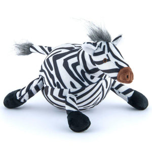 Zebra Plush Dog Toy