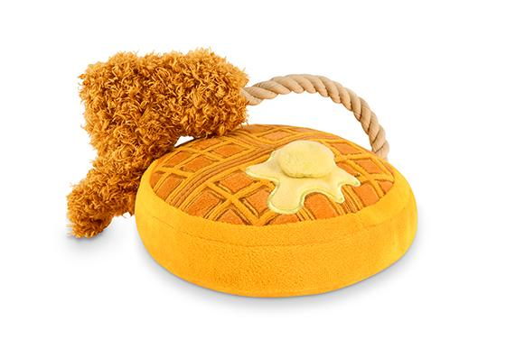 Barking Brunch Chicken & Waffles Plush Dog Toy