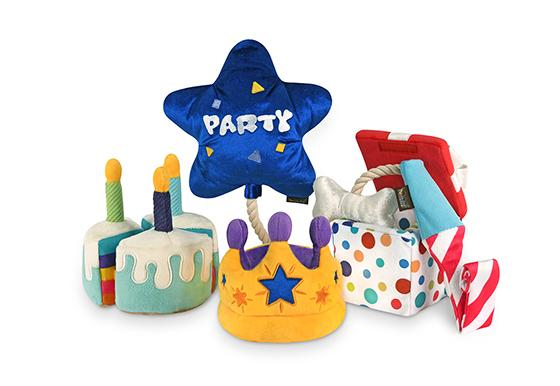 Party Time Pawfect Present Plush Dog Toy