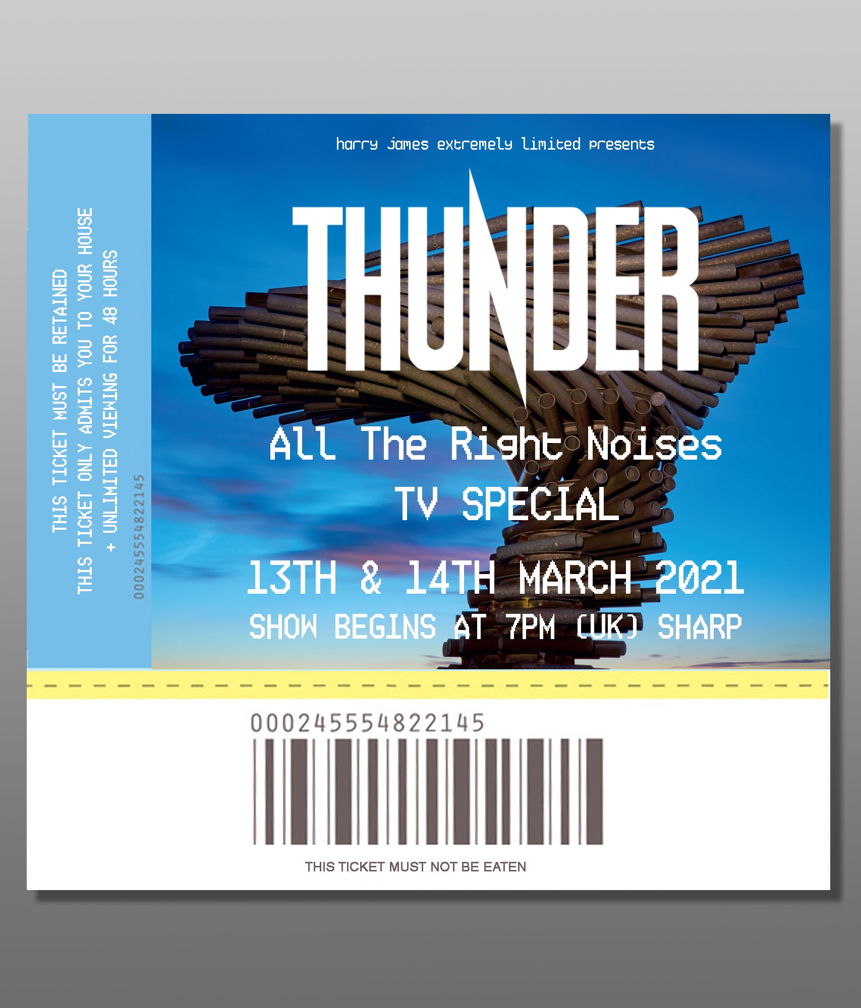 "All The Right Noises ""TV Special"" - Ticket"