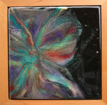 "SOLD ""Butterfly Starburst"", is a Resin Cosmic inspired painting"