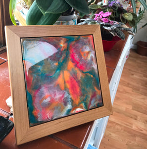 """Carnival"" Original Resin Abstract Painting"
