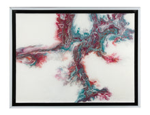 "SOLD- ""Coral Garden"", Original Abstract Resin and Acrylic Painting - At ROX Arts Gallery"
