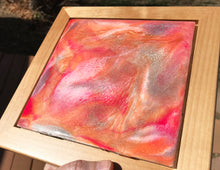 """Cotton Candy"" Resin Abstract Painting"