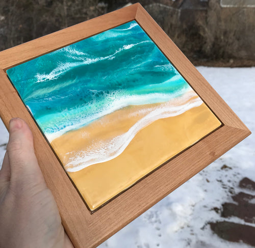resin seascape painting