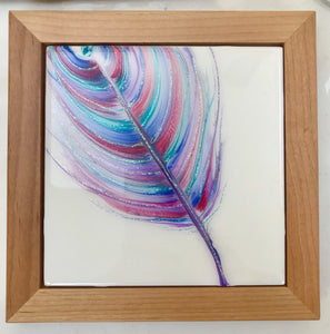 "Sold! ""Spirited Away"" An Original Art Piece in My Spirit Feather Series"