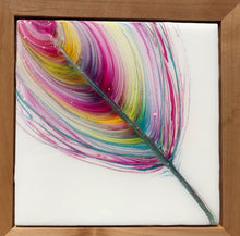 """Sun Kissed"" An Original Mixed Media & Resin Art Piece In My Spirit Feather Series"