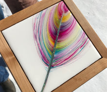 "SOLD- ""Sun Kissed"" An Original Mixed Media & Resin Art Piece In My Spirit Feather Series"