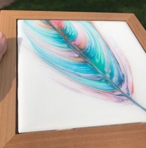 "Sold- ""Softly Summer"" An Original Art Piece in My Spirit Feather Series"