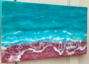"'In Dreams"" Original Resin, Mixed Media Seascape Inspired Artwork"
