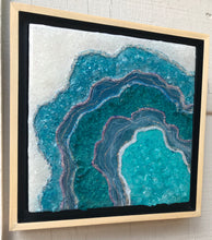 "Sold! ""Baby Blue"" An Original Geode Resin Painting, Currently on Display at Grace Gallery, Contact me for availability"