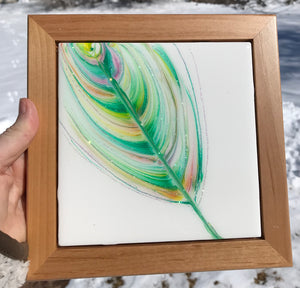 """Softly Spring"" An Original Artwork in My Spirit Feather Series"
