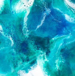 "SOLD! ""Sea Breeze"" Original Abstract Resin Painting Wall Hanging - Ships Free in USA!"