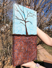 """Sky"" An Original Mixed Media Whimsical Tree Painting"