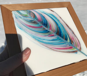 "Sold ""Turquoise Tufts"" An Original Art Work in my Spirit Feather Series"