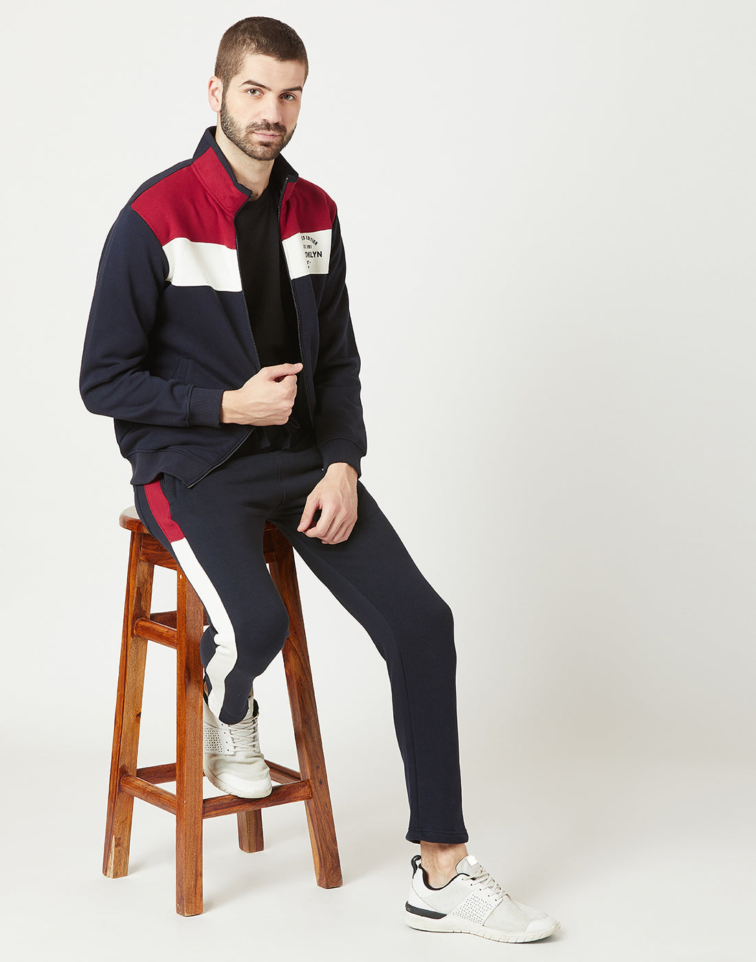 Octave Men Navy Jogging Suit