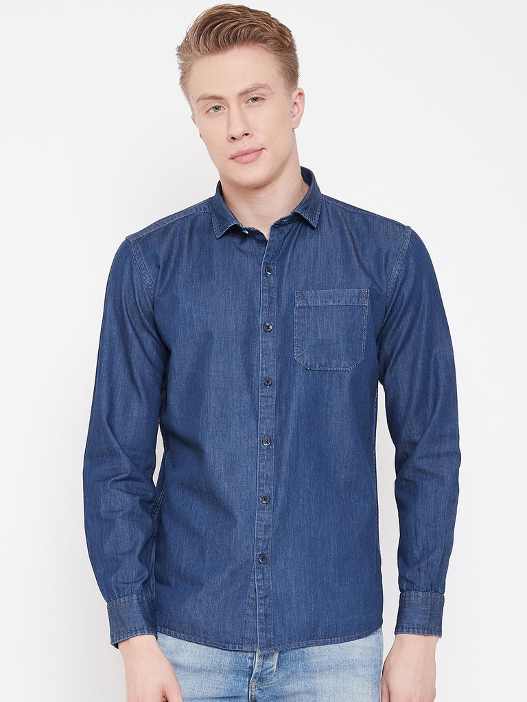 Octave Apparels Indigo Shirt for Men