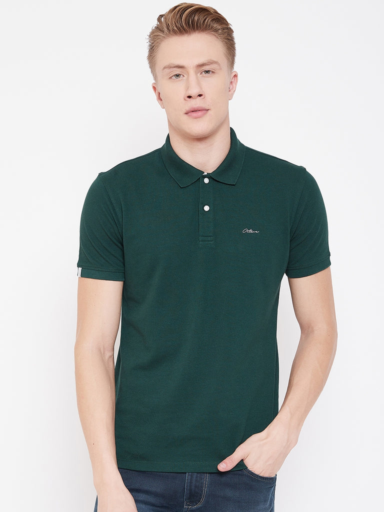 Octave Apparels mountain green T-shirt for Men