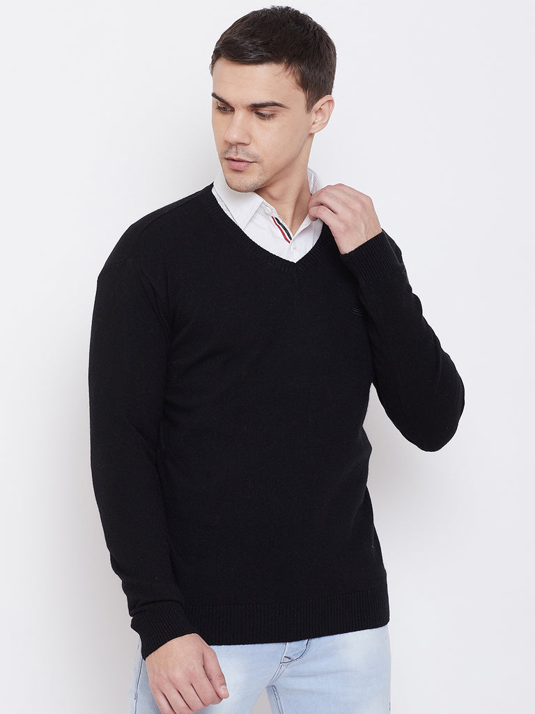 Mettle Apparel Black coloured Sweater for men